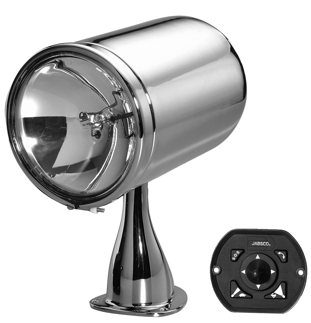 Jabsco 6 Chrome Plated Remote Control Searchlight
