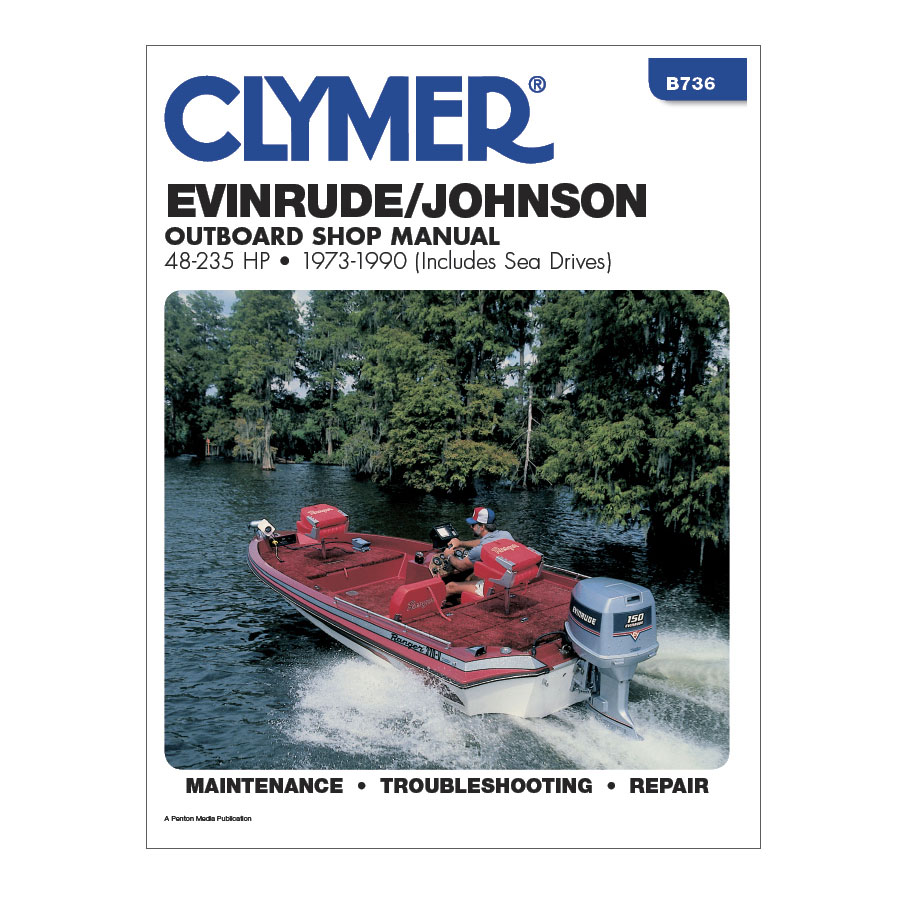 Clymer - Clymer Evinrude/Johnson 48-235 HP Outboards (Includes Sea Drives)  (1973-1990) #11-43674