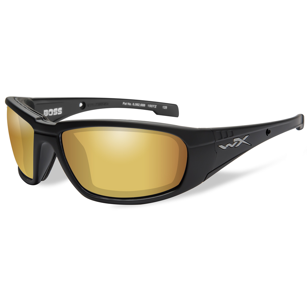 cc5a796fb6 wiley x boss polarized venice sunglasses gold mirror lens matte black frame