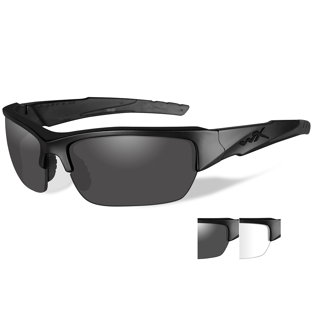 Wiley X - Wiley X Valor Sunglasses - Smoke Grey Clear Lens - Matte Black  Frame  11-62812 9076ff8f4004