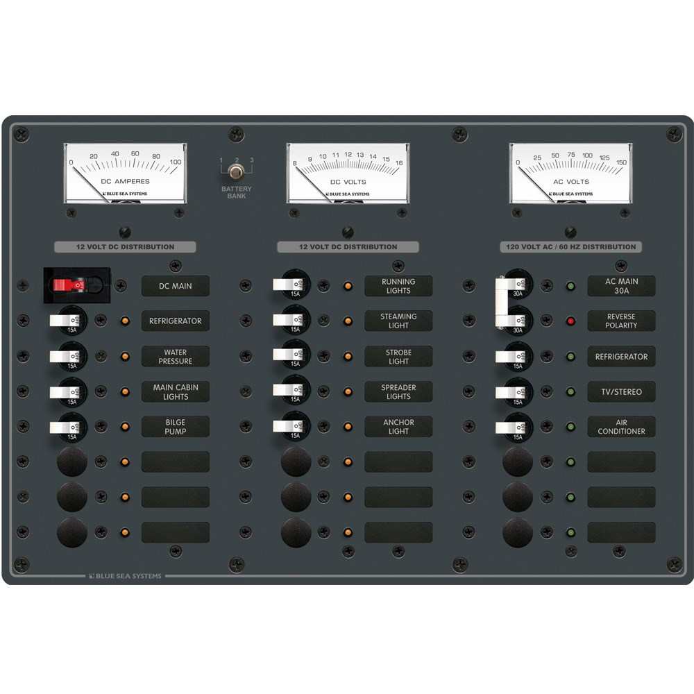 Blue Sea Systems - Blue Sea 8084 AC Main +6 Positions/DC Main +15 ...