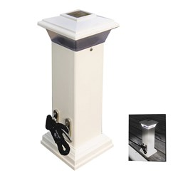 Dock Edge Cleatlite Solar Dock Light w/SS Mooring Cleat 12""