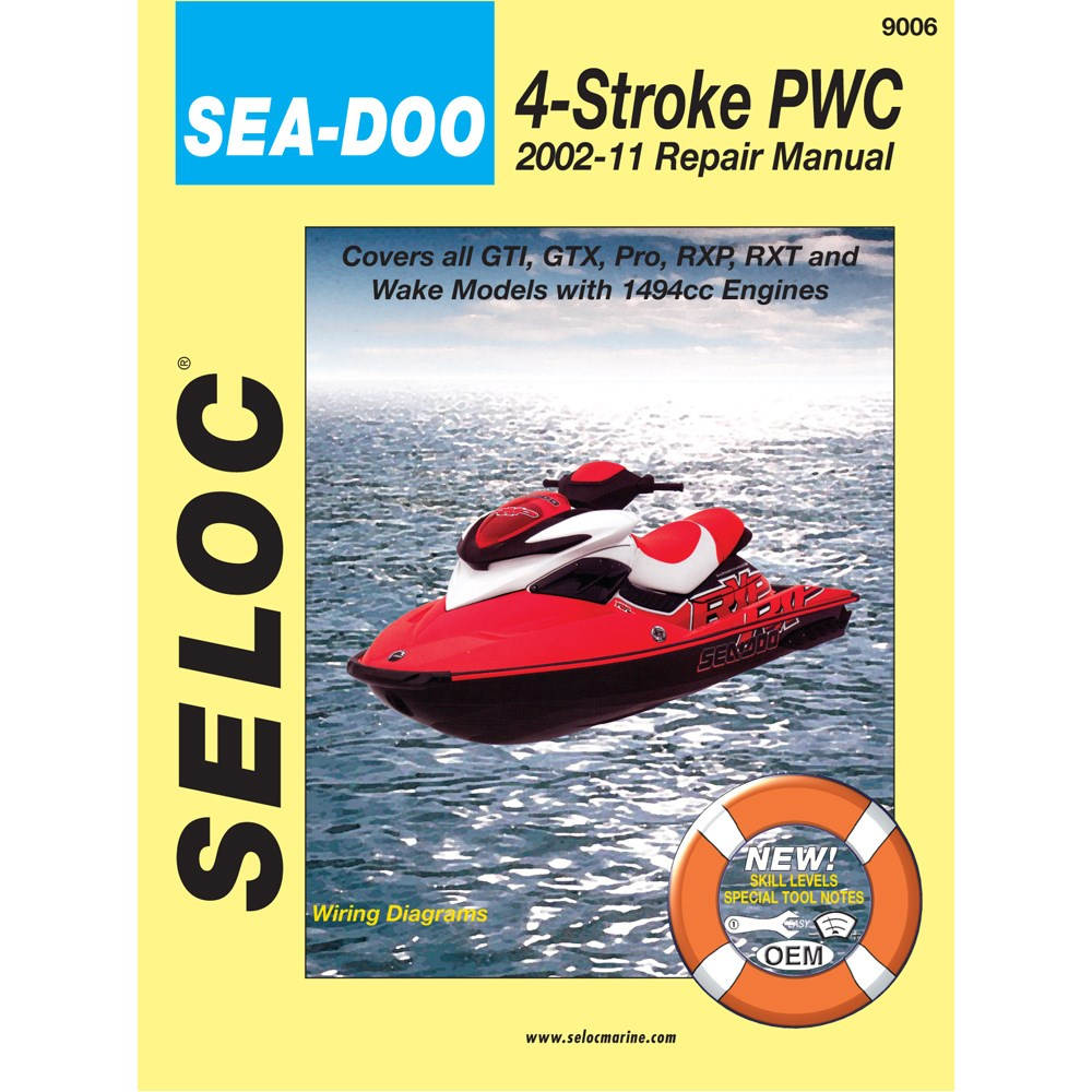 Seloc Service Manual Sea-Doo Bombardier 4-Stroke Engines - 2002-2010