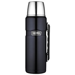 Thermos Stainless King™ Vacuum Insulated Beverage Bottle - 40 oz. - Stainless Steel/Midnight Blue