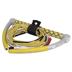 AIRHEAD Bling Spectra Wakeboard Rope - 75 5-Section - Yellow