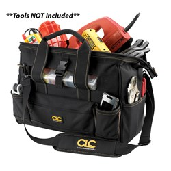 "CLC 1534 16"" Tool Bag w/ Top-Side Plastic Parts Tray"