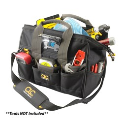 "CLC L230 Tech Gear LED Lighted 14"" Bigmouth Tool Bag"
