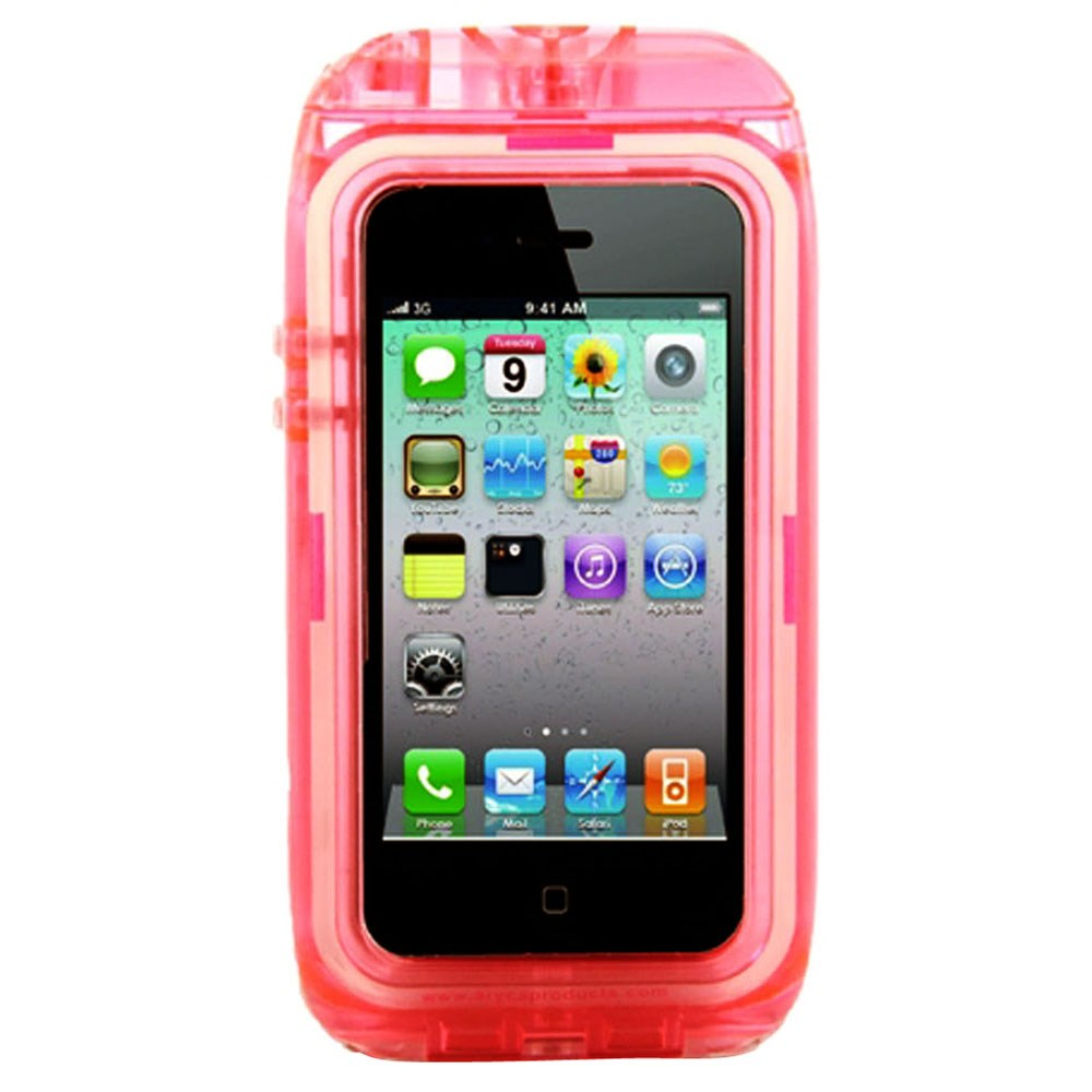 cheaper 605b2 7ed14 Aryca Aricase Wave 2 - Waterproof Case f/iPhone 4 iPhone 4S - Pink