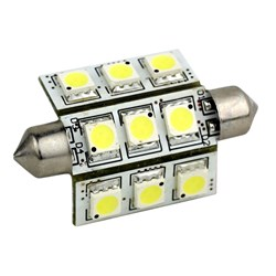 Lunasea 3-Sided 9 LED Festoon - 10-30VDC/2W/141 Lumens - Warm White