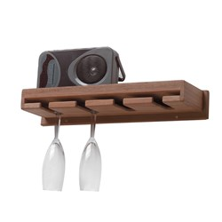 Whitecap Teak Wineglass Rack w/Shelf