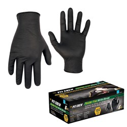 CLC Black Nitrile Disposable Gloves - Box of 100 - X-Large