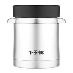 Thermos Vacuum Insulated Food Jar w/Microwavable Container - 12 oz. - Stainless Steel