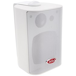 "Boss Audio MR4.3W 4"" 3-Way Marine Box Speakers (Pair) - 200W - White"