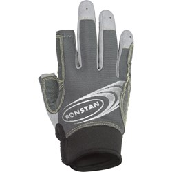 Ronstan Sticky Race Gloves w/3 Full & 2 Cut Fingers - Grey - X-Small