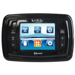 "Infinity PRV350 3.5"" Color TFT Screen - 4x50 AM/FM/BT/USB/AUX in/3 x PRE-OUTS/SiriusXM-Ready Stereo Infinitys PRV350, Marine digital receiver, Marine-rated watertight face"