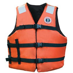 "Mustang Adult Universal Fit Industrial Flotation Vest - 30""-52"" Vest - Orange"