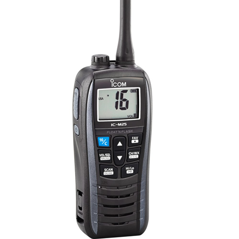 Icom M25 Floating VHF - Metallic Gray