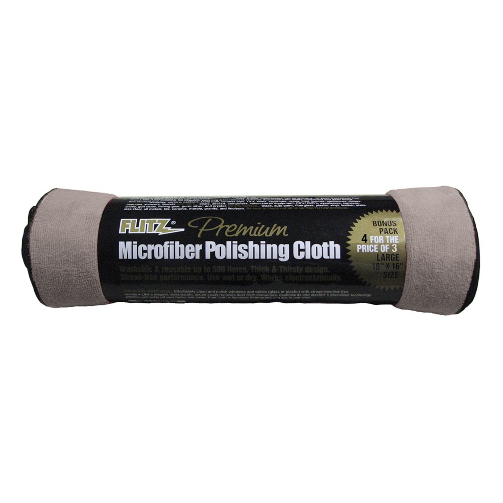 "Flitz Microfiber Polishing Cloth - 16"" x 16"" - Single Bag"