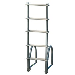 Dock Edge Aluminum 5-Step Eco Flip-Up Dock Ladder - Weld Free