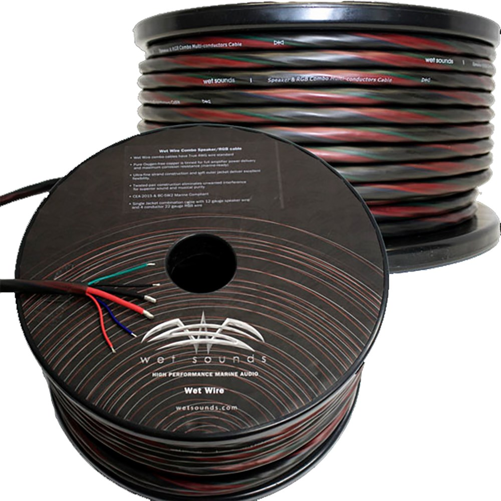 Wet Sounds Inc - Wet Sounds 6 Conductor Wire - 12 Gauge Speaker Wire ...