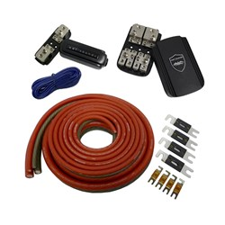 Wet Sounds 1/0 Gauge True Spec 100% OFTC Power Wiring Kit for up to 2 Amplifiers - Front