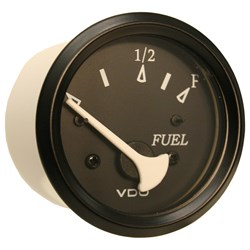 VDO Allentare Black Fuel Level Gauge - Use w/Marine 240-33 Ohm Fuel Senders - 12V - Black Bezel