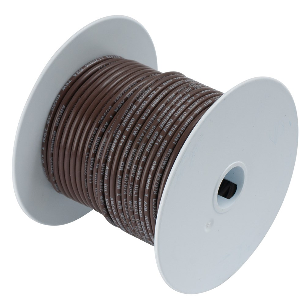 Ancor - Ancor Brown 12 AWG Tinned Copper Wire - 250\' #11-60856