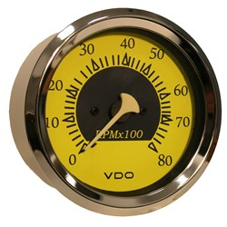 "VDO Allentare Yellow/Blue 8000RPM 3-3/8"" (85mm) Outboard Tachometer - 12V"