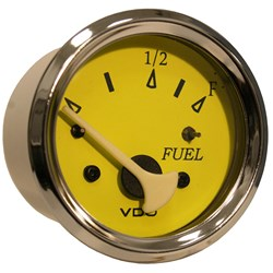 VDO Allentare Yellow/Blue Fuel Level Gauge - Use w/Marine 240-33 Ohm Fuel Senders - 12V