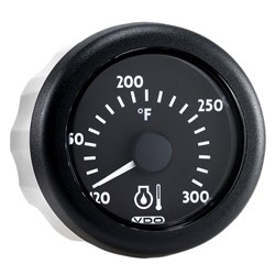 VDO Ocean Link J1939 300°F Water Temperature Gauge - 12/24V