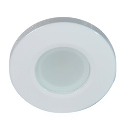 Lumitec Orbit Flush Mount Down Light - Blue Non-Dimming, Red Non-Dimming & White Dimming w/White Housing