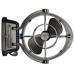 "Caframo Sirocco II 3-Speed 7"" Gimbal Fan - Black - 12-24V"