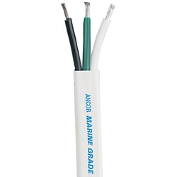 Ancor White Triplex Cable - 6/3 AWG - Flat - 100