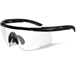 Wiley X Saber Advanced Sunglasses - Clear Lens - Matte Black Frame