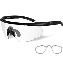 Wiley X Saber Advanced Sunglasses - Clear Lens - Matte Black Frame w/Rx Insert