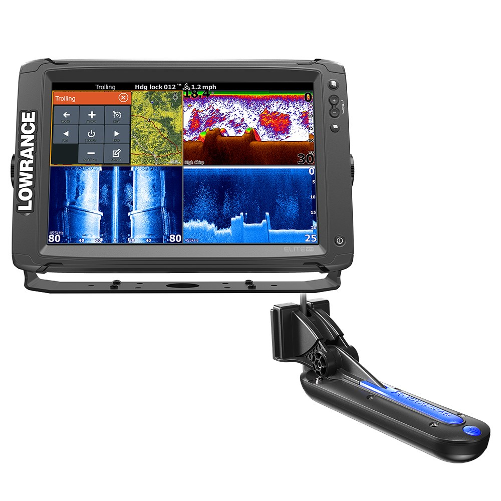 Lowrance Elite-12 Ti Chartplotter/fishfinder with TotalScan Transom Mount Transducer