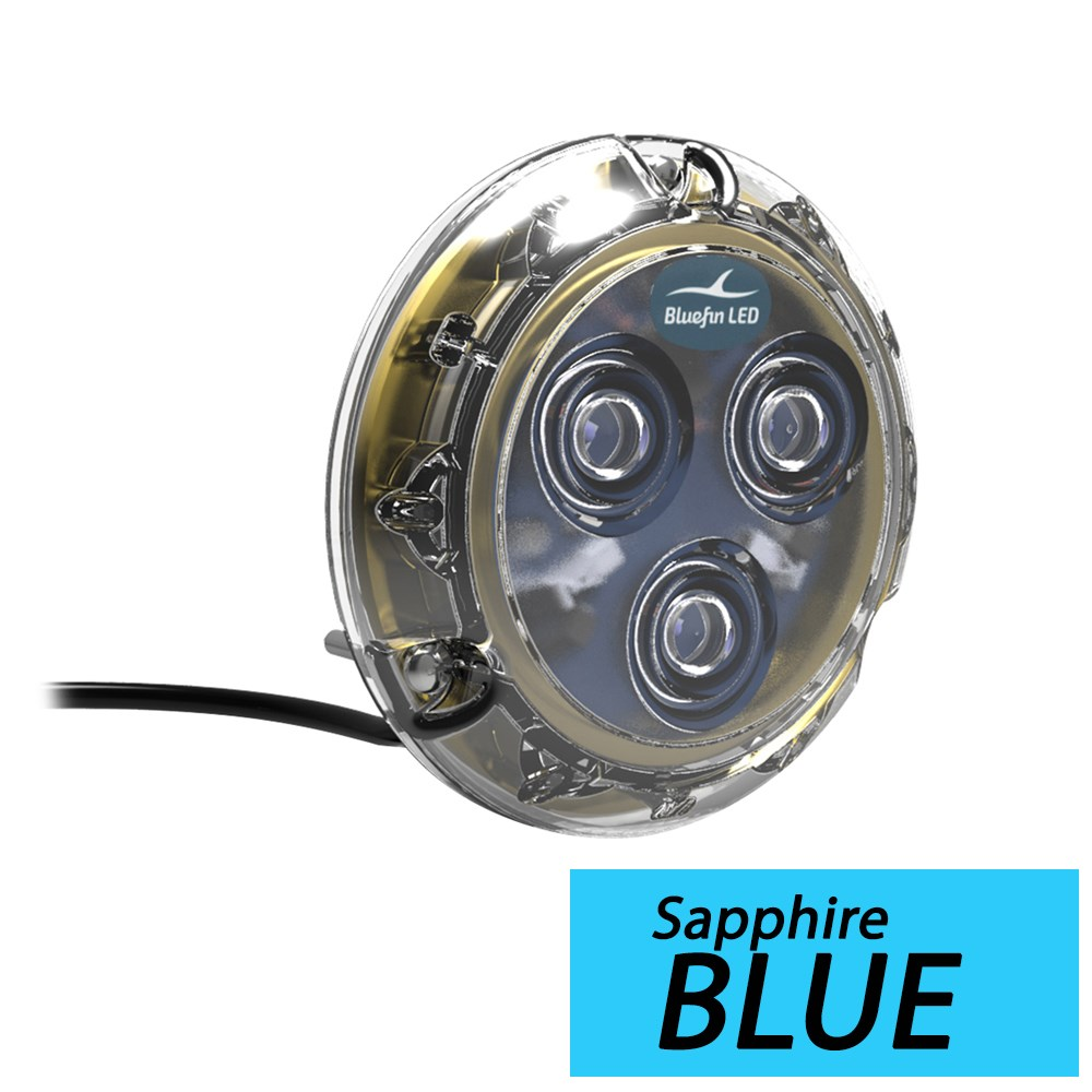 Bluefin LED Piranha P3 Surface Mount Underwater LED Light - 1400 Lumens - Sapphire Blue