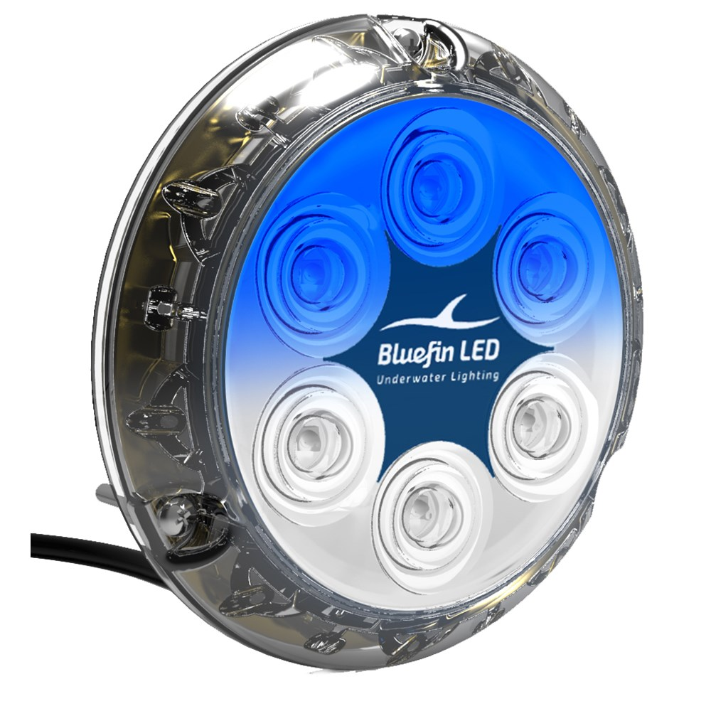 Bluefin LED Piranha P12 Underwater Light - Surface Mount - 12/24V - Dual Color White/Blue