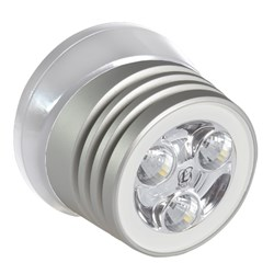Lumitec Zephyr LED Spreader/Deck Light - Brushed White Base - White Non-Dimming