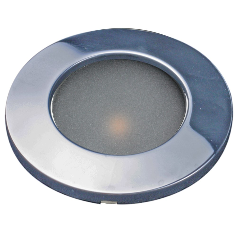 "Lunasea 3.45"" Recessed LED COB Light w/ Polished Stainless Steel Bezel -Warm White"