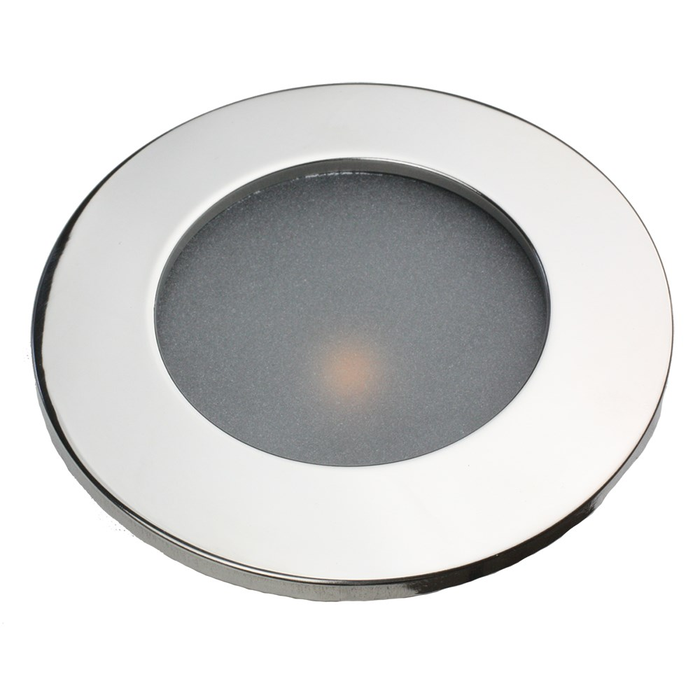 "Lunasea 3.45"" Recessed LED COB Light w/Brushed Stainless Steel Bezel -Warm White"