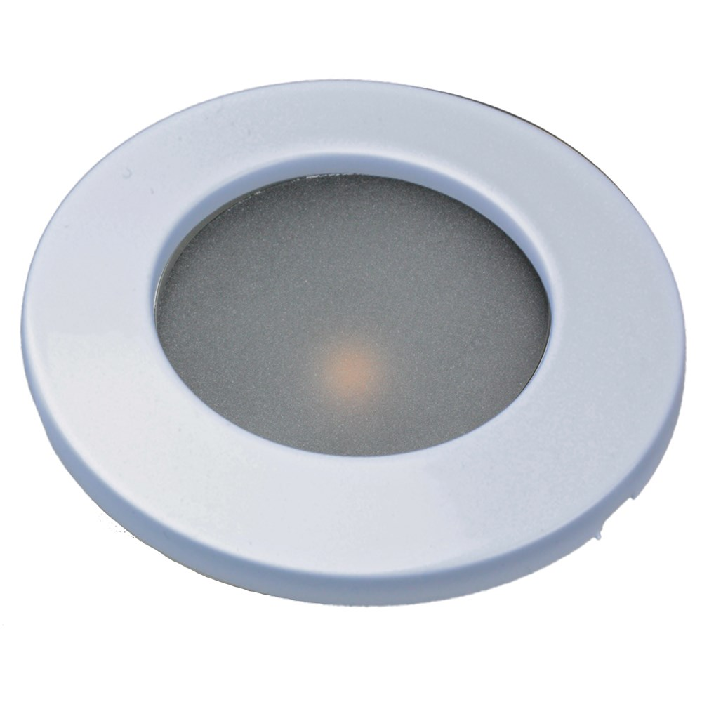 "Lunasea 3.45"" Recessed LED COB Light w/White Bezel - Warm White"
