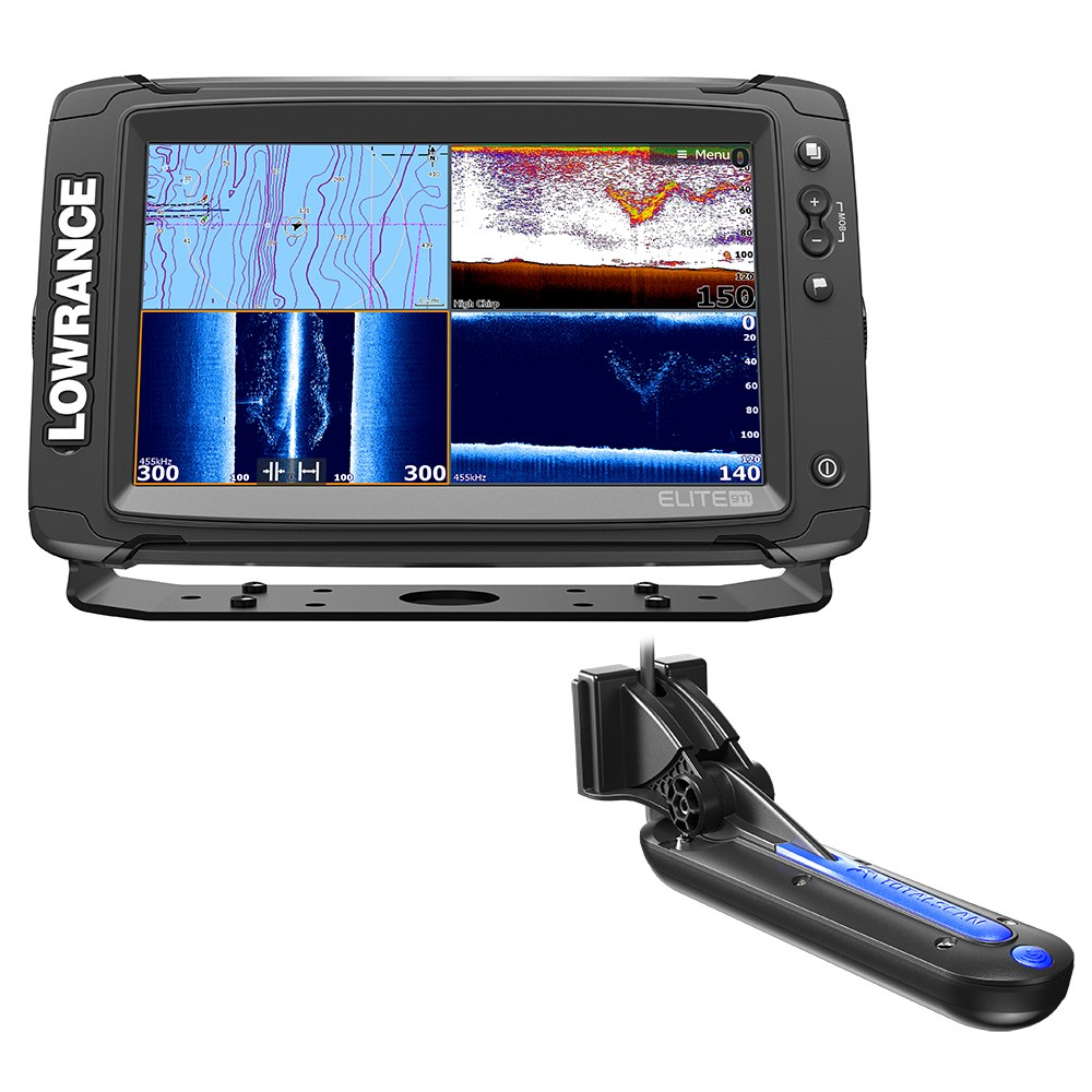 Lowrance Elite-9 Ti Chartplotter/fishfinder with Totalscan Transom Mount Tranducer and Insight Pro By C-Map Chart