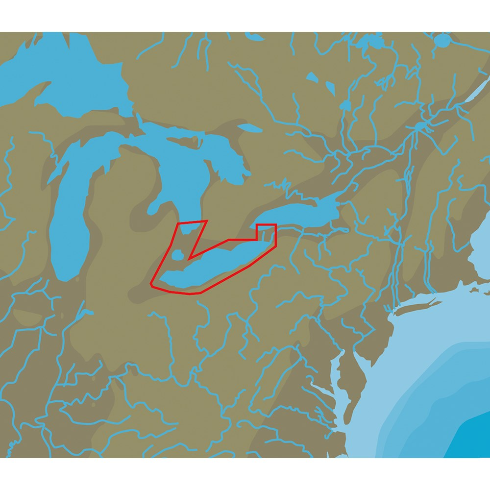 C-MAP NT+ NA-C112 Lake Erie & Lake St Clair - C-Card Format