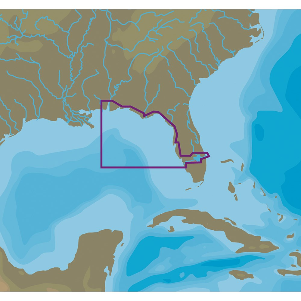 C-MAP NT+ NA-C410 Fort Myers to Mobile - C-Card Format