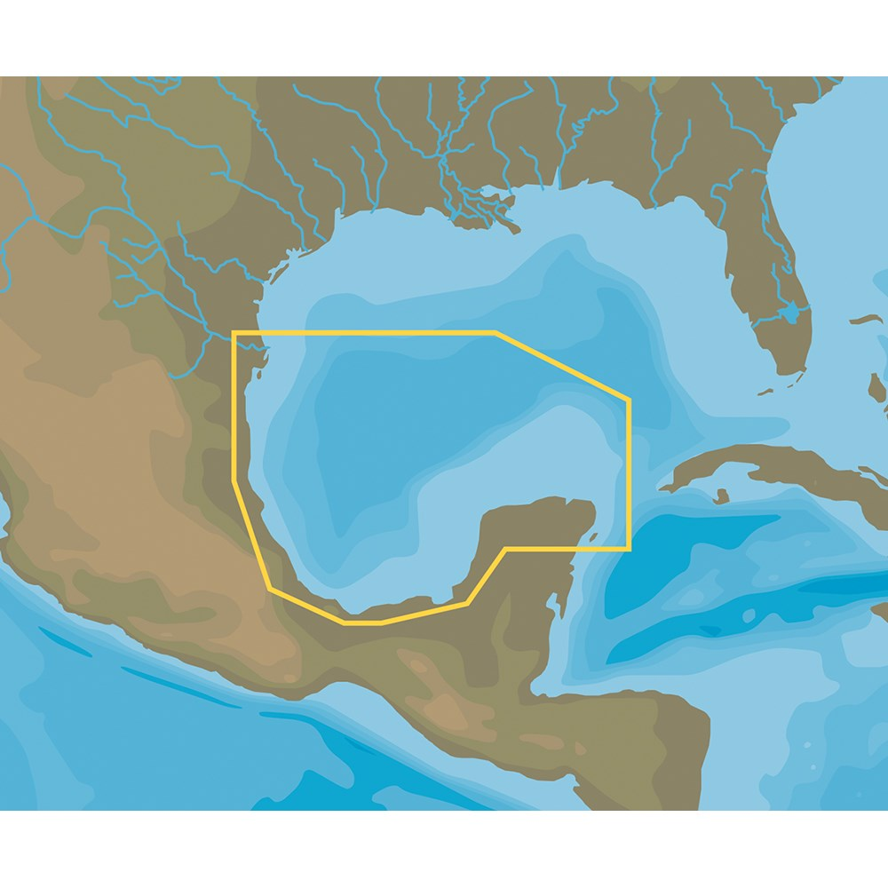 C-MAP NT+ NA-C413 Brownsville to Cancun, Mexico - C-Card Format
