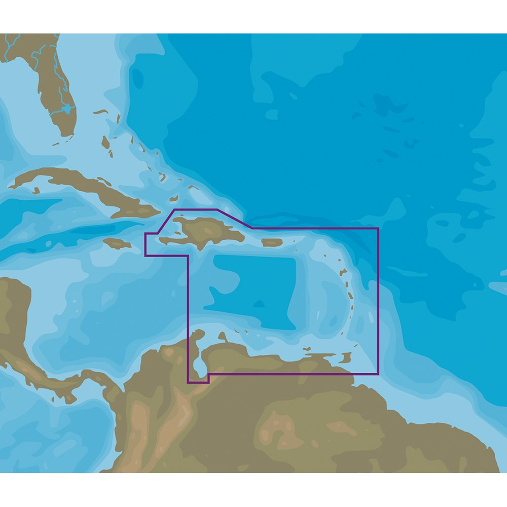 C-MAP NT+ NA-C510 Eastern Caribbean Sea - C-Card Format