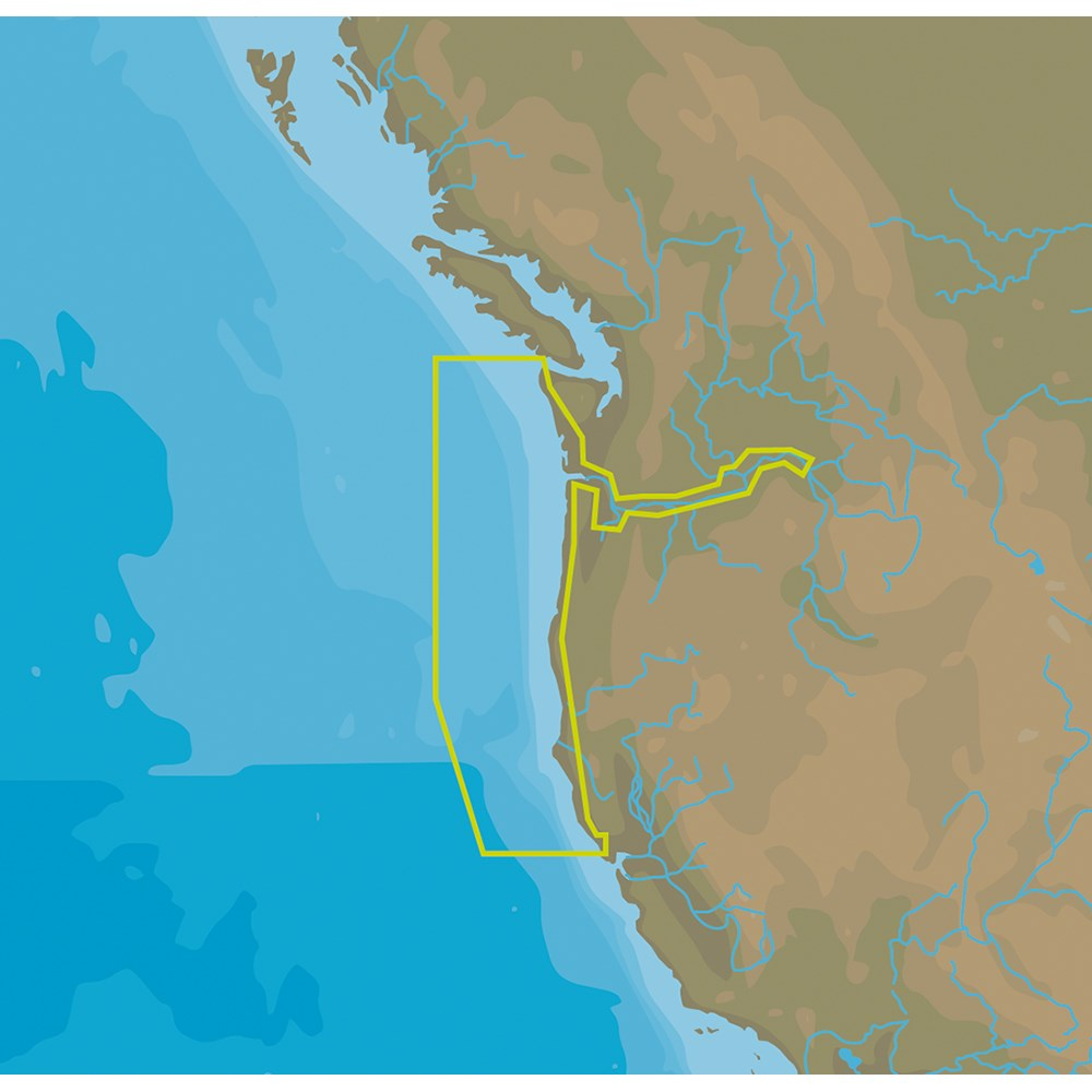 C-MAP NT+ NA-C661 Bodega Bay to Neah Bay - C-Card Format