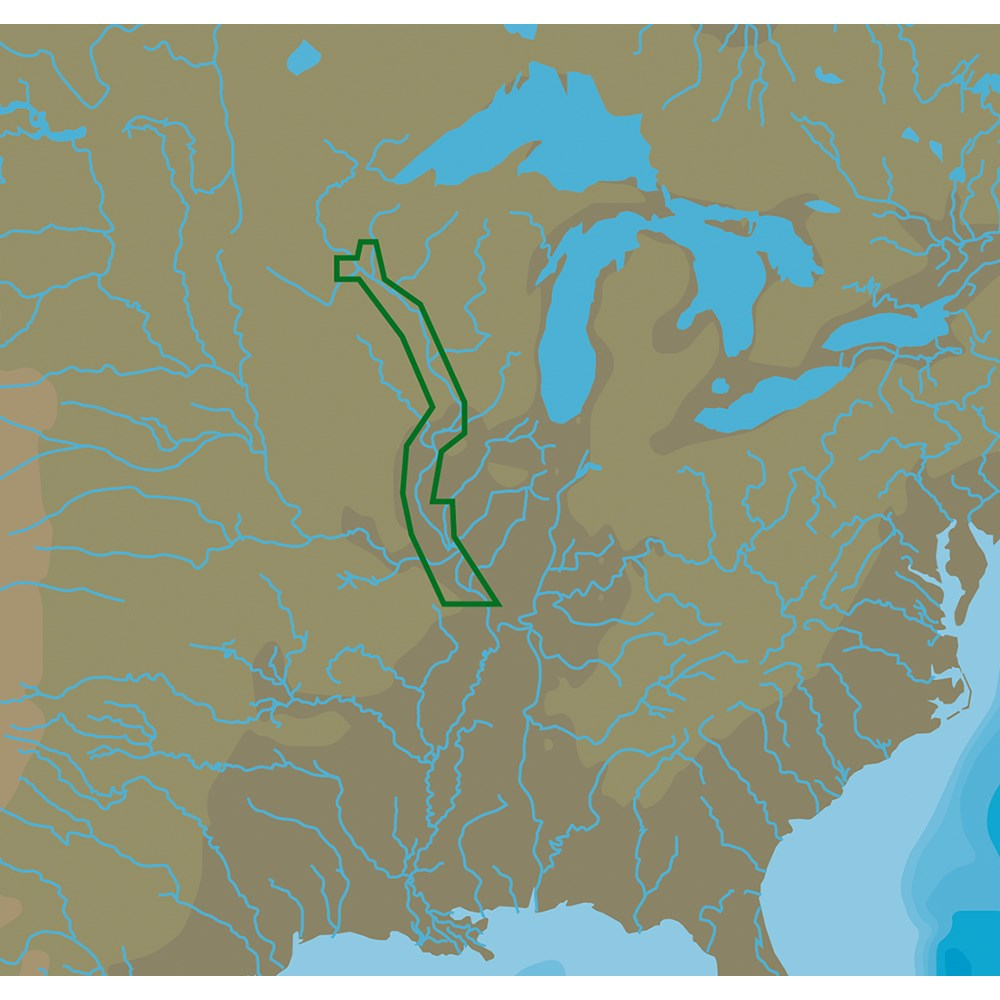 C-MAP NT+ NA-C052 Upper Mississippi River - C-Card Format