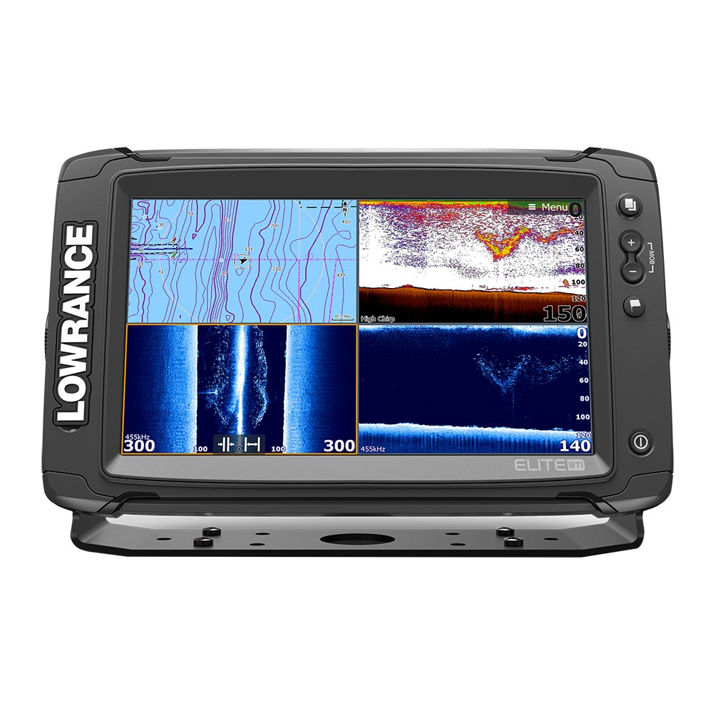 Lowrance Elite-9 Ti Combo with Med/High/DownScan HDI Transom Mount Transducer